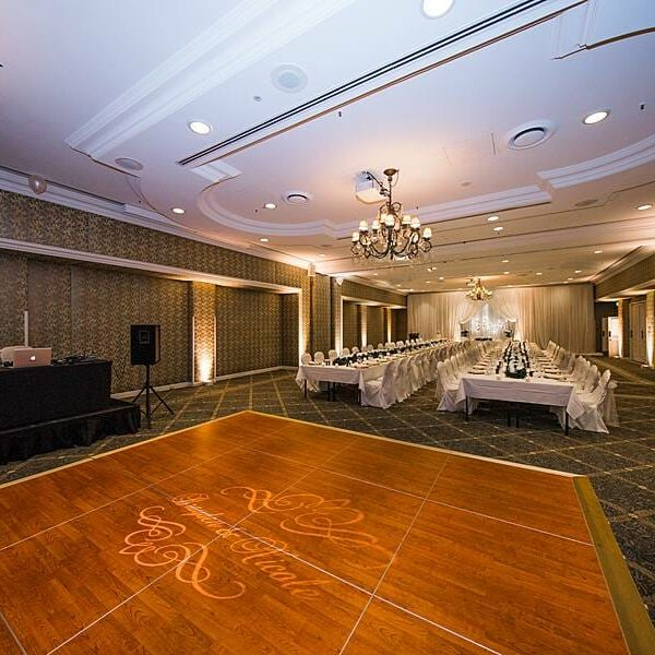 Stamford Plaza Ballroom Wedding - Uplighting & Custom Monogram