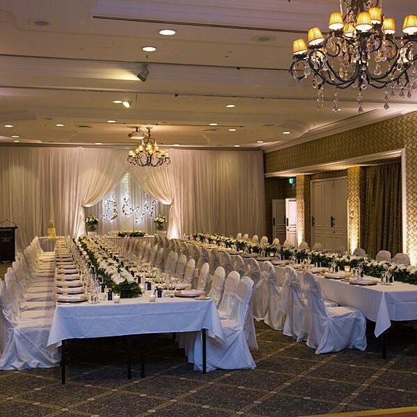 Stamford Plaza Wedding Lighting - Warm White Uplighting 2