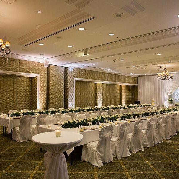 Stamford Plaza Wedding Lighting - Warm White Uplighting