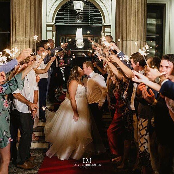 Customs House Brisbane - Wedding Sparklers Exit