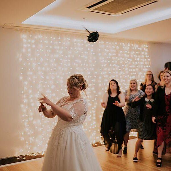 Fun Wedding Games Clear Mountain Lodge - Bouquet Throw