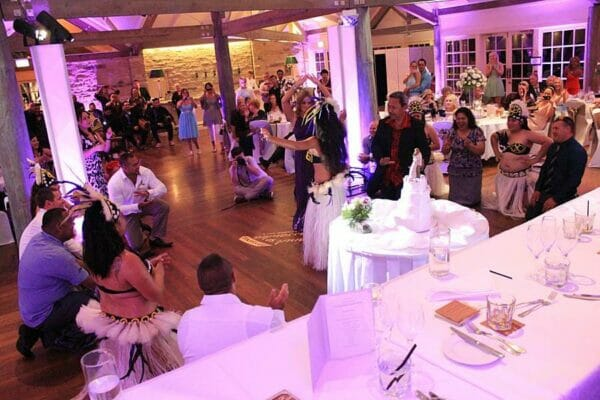 Sanctuary Cove Samoan Wedding Celebrationl Dancers Mood Towers
