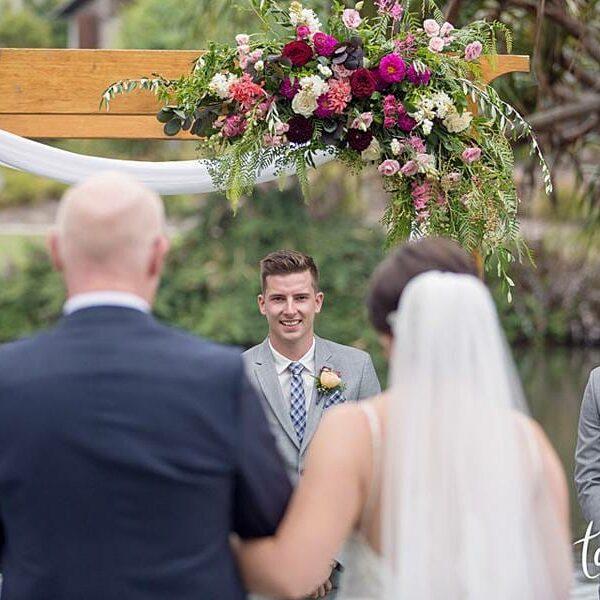 Novotel-Twin-Waters-Resort-Wedding-Ceremony-Bride-Entrance