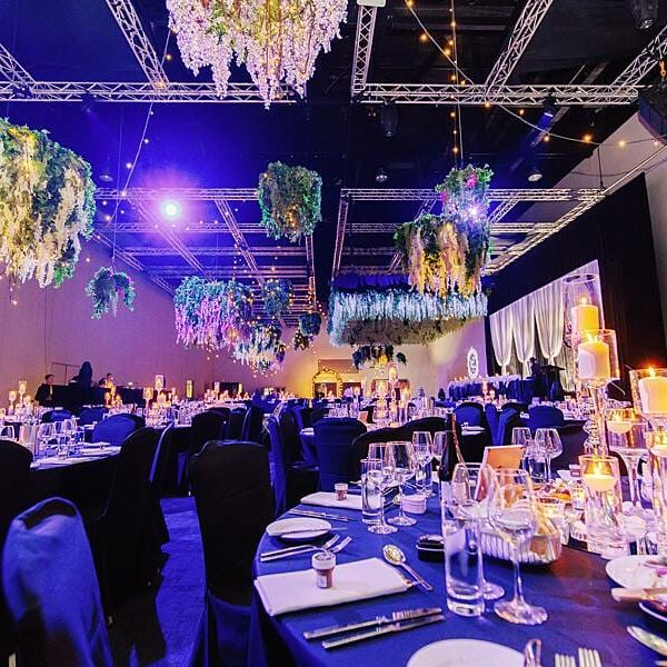 Royal International Convention Centre Wedding - Lighting Room Setting