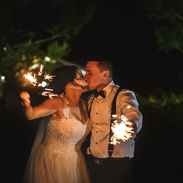 Sirromet Barrel Hall - Reception Sparklers