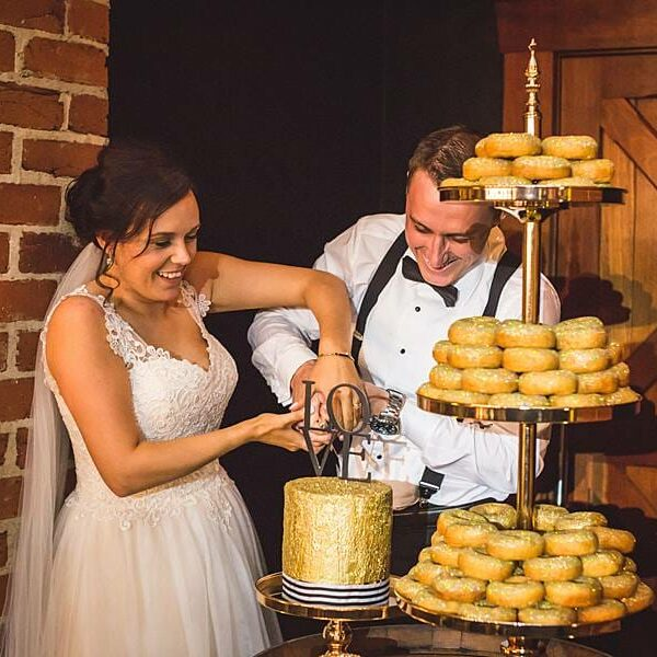 Sirromet Winery Barrel Hall - Reception Donuts Cake Cutting