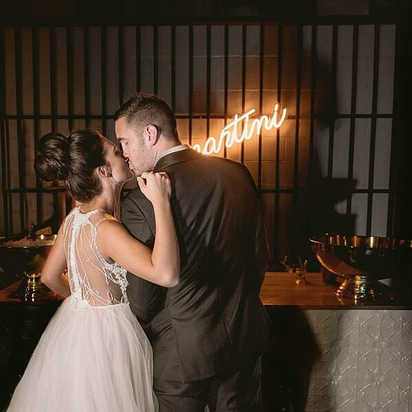 The Joinery - Bride and Groom Kiss