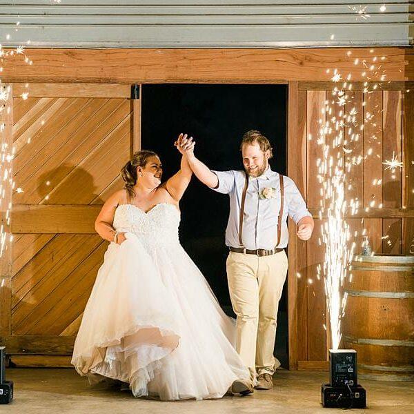 Bracknell Lodge Wedding - Taleah & Justin Entrance Sparkulars