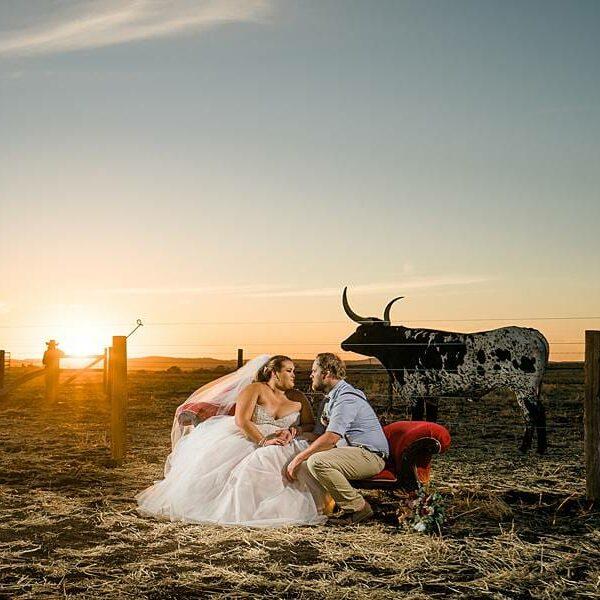 Darling Downs Bracknell Lodge Wedding - Taleah & Justin Sunset